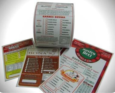 Etiquetas adesivas personalizadas para alimentos
