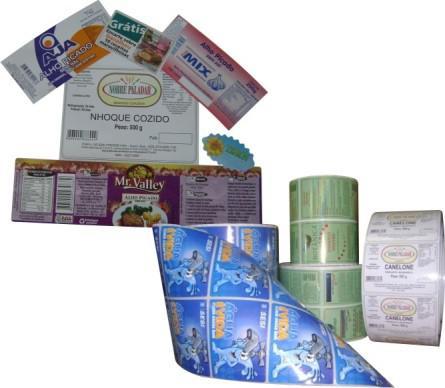 Etiquetas produtos alimenticios
